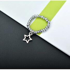 """Кольцо-подвеска """"Звездочка"""", серебристый цвет #1"""