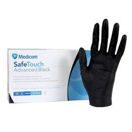 Перчатки Medicom SafeTouch Advanced Extened (оригинал), размер M, черные (плотные и прочные 5 грамм) 50 пар #1