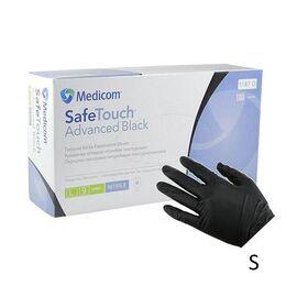 Перчатки Medicom SafeTouch Advanced Extened (оригинал), размер S, черные (плотные и прочные 5 грамм)  50 пар #1