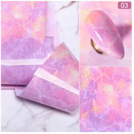 Фольга для маникюра, 1 рулон, розовый мрамор #1