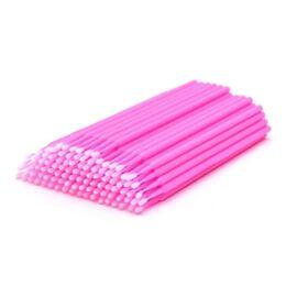 Микробраш пластиковый, цвет розовый, 100 штук #1