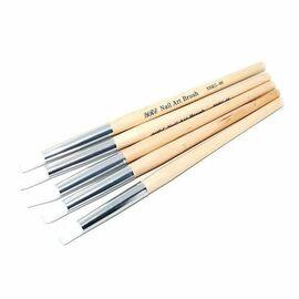 Набор силиконовых кистей 5 шт, деревянная ручка #1