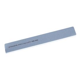 STALEKS Пилка широкая прямая минеральная для ногтей EXCLUSIVE 180/240 грит #1