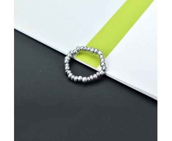 """Кольцо-подвеска """"Бусинки"""", серебристый цвет #1"""