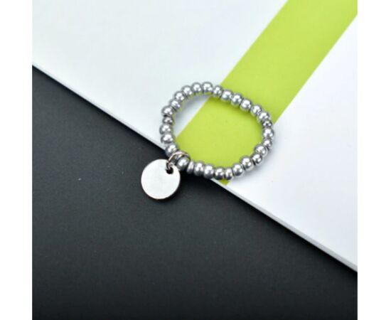 """Кольцо-подвеска """"Кружочек"""", серебристый цвет #1"""