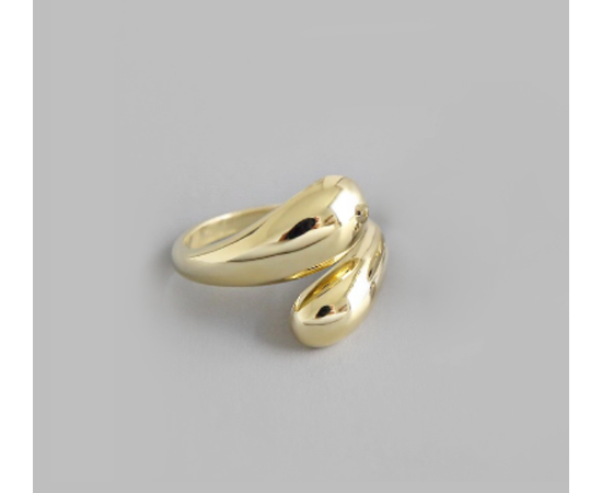 """Кольцо """"Минимализм"""", золотистый цвет #1"""