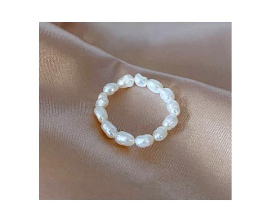 Жемчужное кольцо, цепочка на палец, крупный жечуг #1
