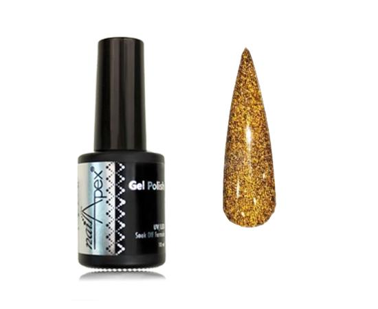 Светоотражающий гель лак Nailapex Золото #472, 10 ml #1