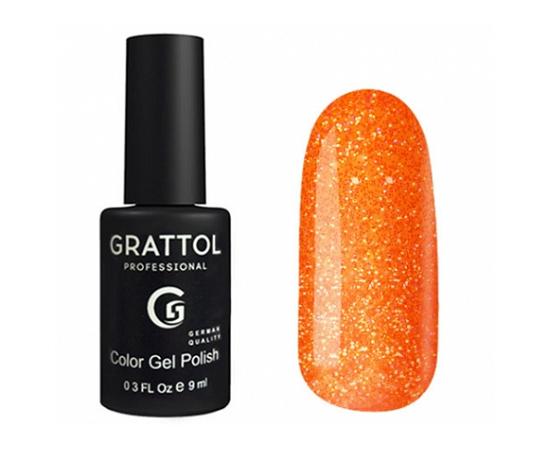 Гель-лак Grattol, Color Gel Polish LS Yashma 02, оранжевый с шиммером, 9 мл #1