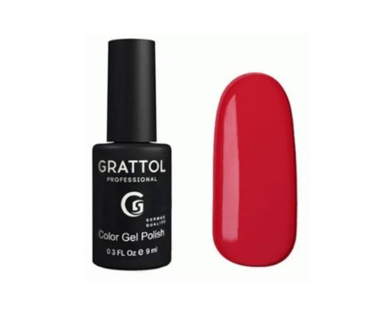 Гель-лак Grattol Color Gel Polish 082 Cherry Red, красно-вишневый, 9 мл #1