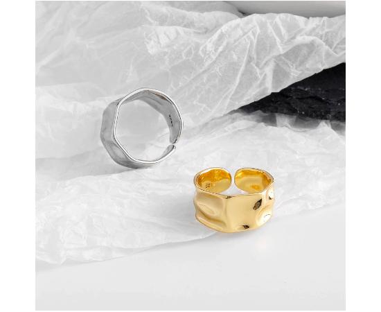 Кольцо, серебряный цвет, бижутерия #1