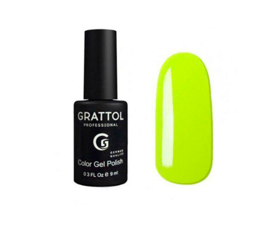 Гель-лак Grattol, Color Gel Polish  Pastel Lemon 035, лимонный, 9 мл #1