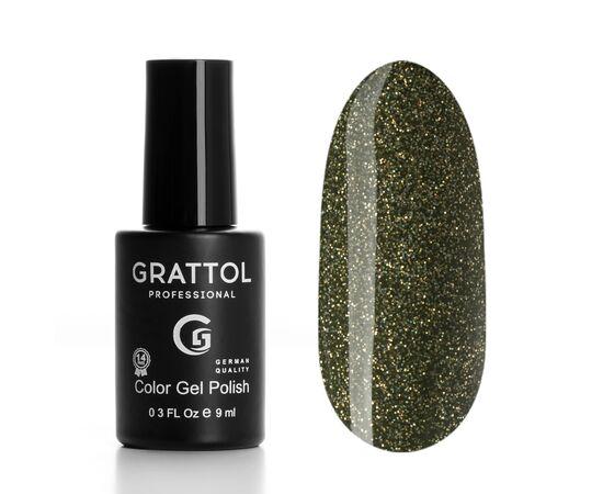 Гель-лак Grattol, Color Gel Polish LS Yashma 07, оливка с шиммером, 9 мл #1