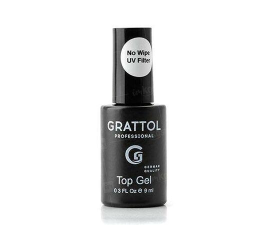Топ без липкого слоя Grattol No Wipe Top Gel UV Filter, 9 мл #1