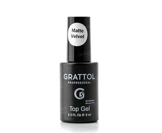 Матовый топ Grattol, Matte Top Gel Velur без липкого слоя, 9 мл #1