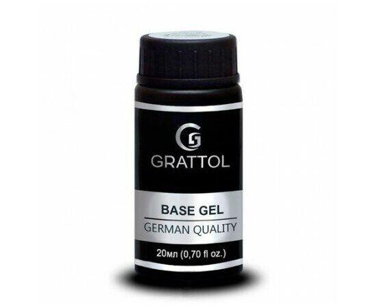 Гипоаллергенная каучуковая база, Grattol IQ Rubber Base Gel, 20 ml #1