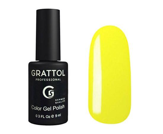 Гель-лак Grattol Color Gel Polish 034 Yellow, классический желтый, 9 мл #1