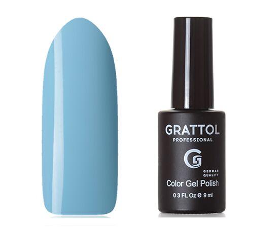 Гель-лак Grattol Color Gel Polish Baby Blue 015, нежно-голубой, 9 мл #1