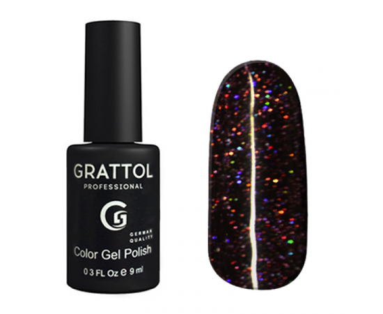 Гель-лак Grattol Color Gel Polish LS Diamond 04, черный диамант, 9 мл #1