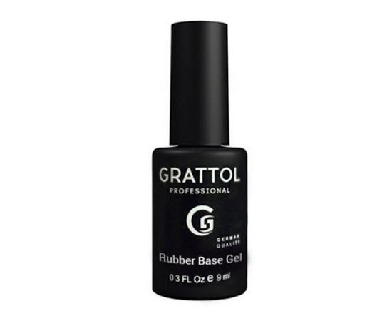 Гипоаллергенная каучуковая база, Grattol IQ Rubber Base Gel, 9 ml #1