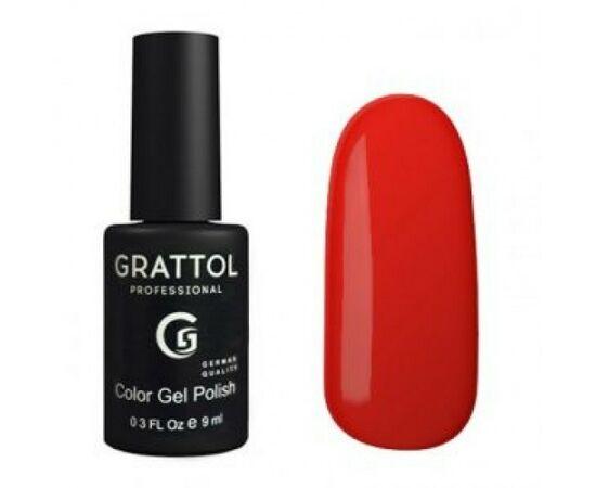 Гель-лак Grattol, Color Gel Polish Flame 027, огненно-красный, 9 мл #1