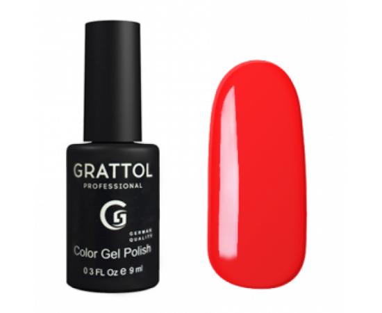 Гель-лак Grattol, Color Gel Polish Bright Red 030, ярко-красный, 9 мл #1