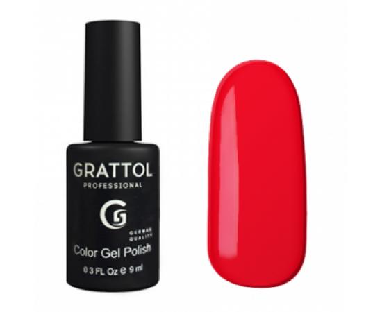 Гель-лак Grattol, Color Gel Polish Pure Red 083, классический красный, 9 мл #1