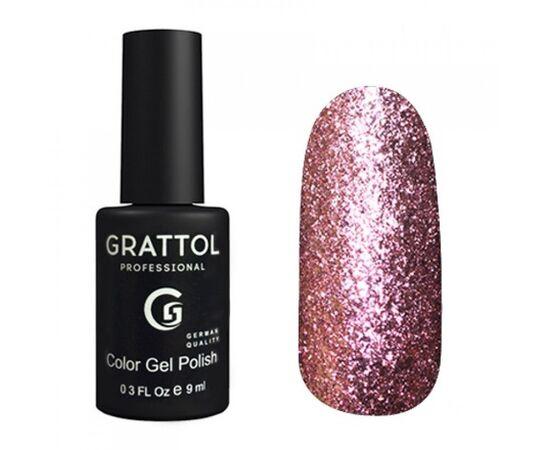 Гель-лак Grattol, Color Gel Polish Vegas 11, розовое серебро, 9 мл #1