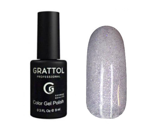 Гель-лак Grattol Color Gel Polish LS Onyx 26, серебряный оникс, 9 мл #1