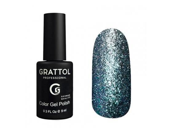 Гель-лак Grattol, Color Gel Polish Vegas 09, ледяное серебро, 9 мл #1