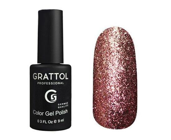 Гель-лак Grattol, Color Gel Polish Vegas 12, красное серебро, 9 мл #1