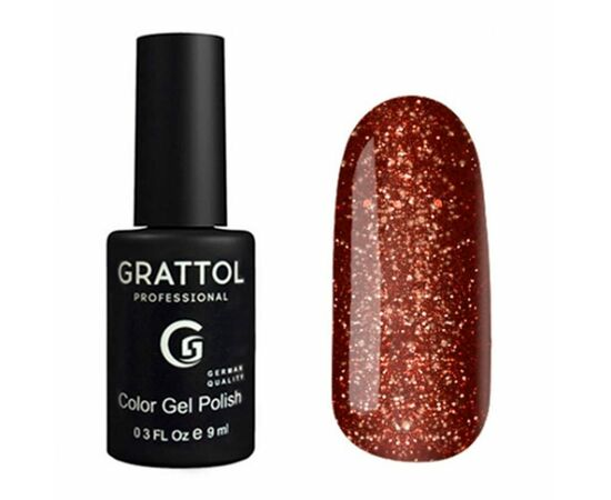 Гель-лак Grattol, Color Gel Polish LS Yashma 10, коричневый с шиммером, 9 мл #1