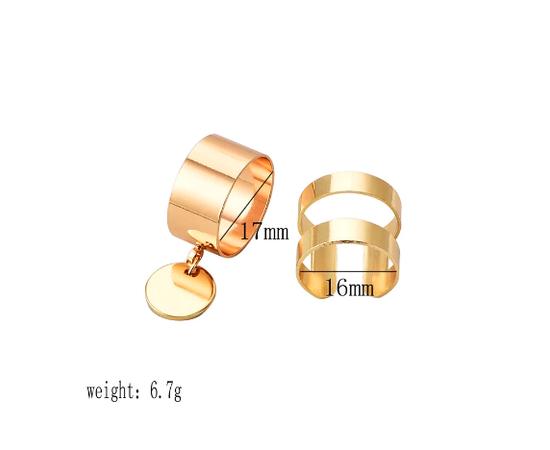 Набор колец, золотой цвет, 2 предмета #1