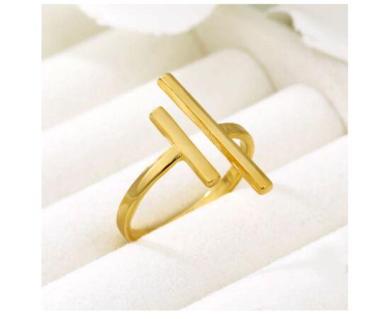 Минималистичное кольцо, цвет - золото #1