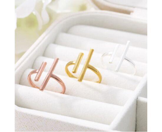 Минималистичное кольцо, цвет - серебро #1