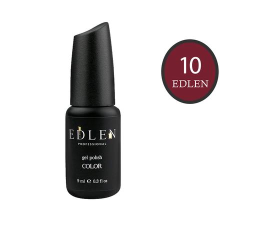 EDLEN Гель-лак № 10, темно-бордовый, 9 ml #1
