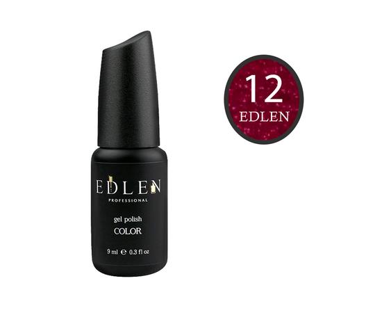 EDLEN Гель-лак № 12, красно-фиолетовый с шиммером, 9 ml #1