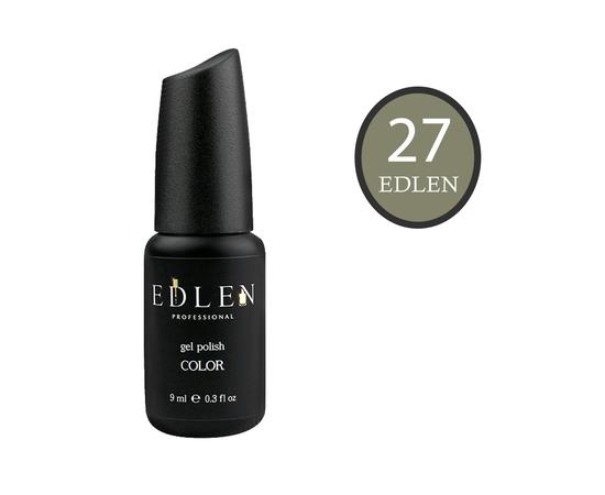 EDLEN Гель-лак № 27, готично-оливковый, 9 ml #1