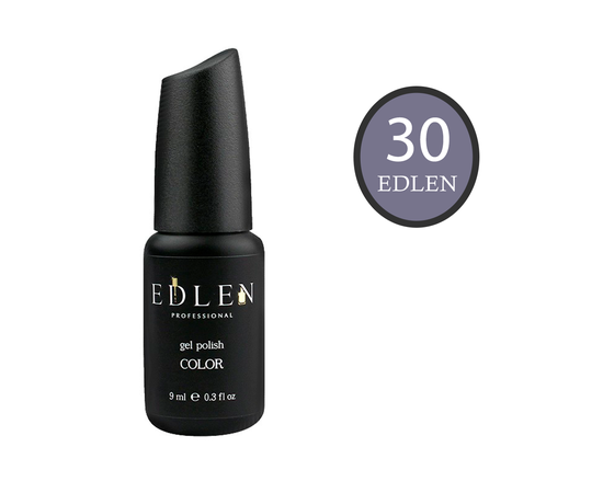 EDLEN Гель-лак № 30, серо-лиловый, 9 ml #1