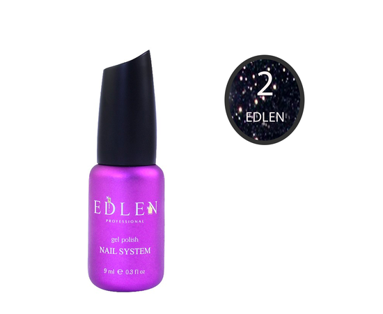 EDLEN Гель-лак Flash Fire № 2 Темно-синий, 9 ml #1
