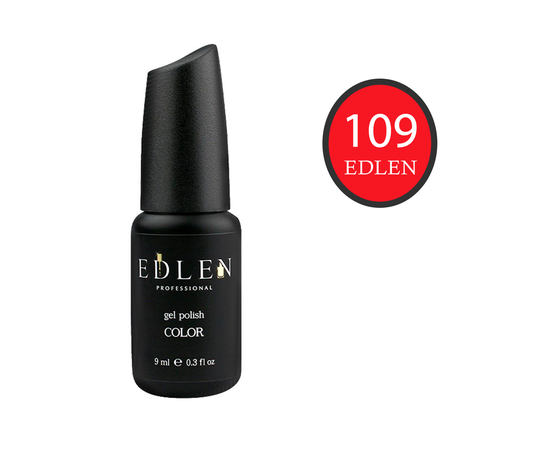 EDLEN Гель-лак № 109, красный коралл, 9 ml #1