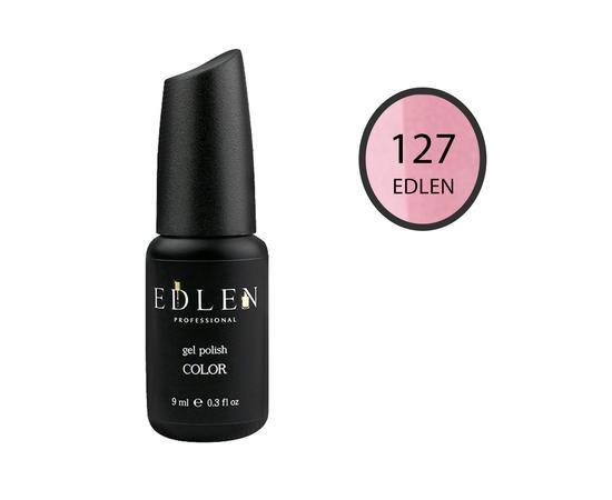 EDLEN Гель-лак № 127, бледно-розовый с шиммером, 9 ml #1