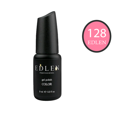 EDLEN Гель-лак № 128, бледно-розовый, 9 ml #1