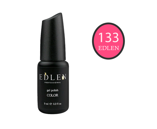 EDLEN Гель-лак № 133, ярко-розовый, 9 ml #1