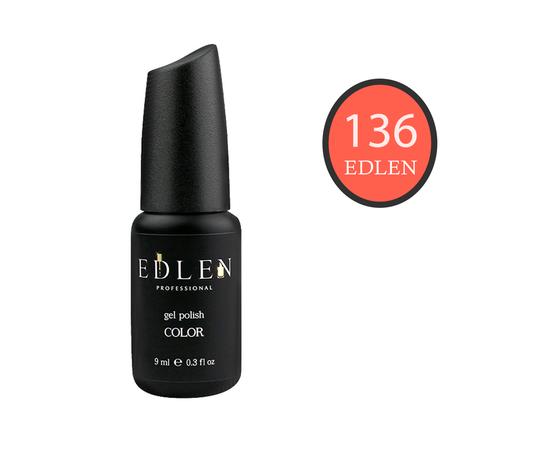 EDLEN Гель-лак № 136, яркий оранжевый, 9 ml #1