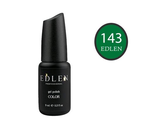 EDLEN Гель-лак № 143, темно-зеленый, 9 ml #1