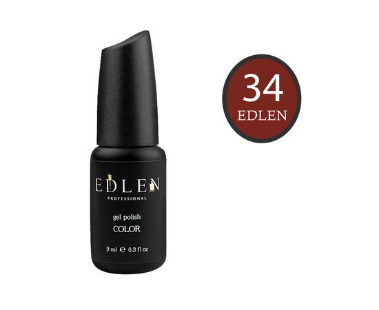 EDLEN Гель-лак № 34, коричневый, 9 ml #1
