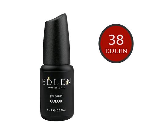 EDLEN Гель-лак № 38, красный кирпич, 9 ml #1