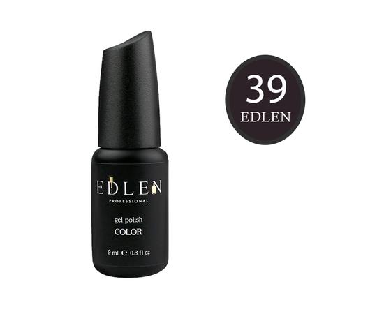 EDLEN Гель-лак № 39, горький шоколад, 9 ml #1