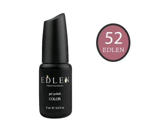 EDLEN Гель-лак № 52, темный нюд, 9 ml #1
